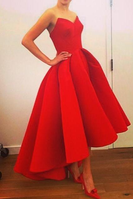Red Prom Dresses,High Low Prom Dresses,Vintage Prom Dresses, Party Dresses, Homecoming Dresses,Cocktail dress