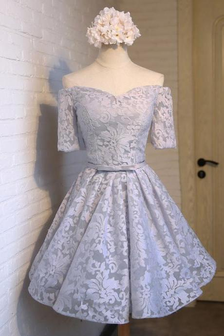 Short Tulle Floral Prom Homecoming Bridesmaid Party Dress